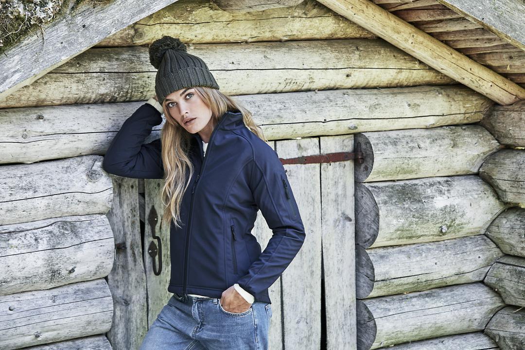 Softshell jakke, Dame, Navy | Kjærulff Fodplejeartikler